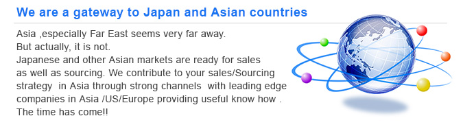 We are a gateway to Japan and Asian countries.