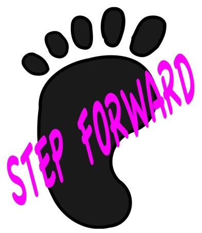 キッズ英語ミュージカルのロゴ「Step Forward」」
