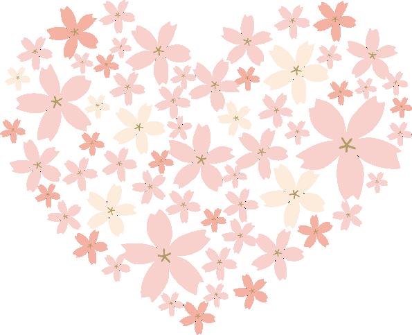 ハート型のお花。