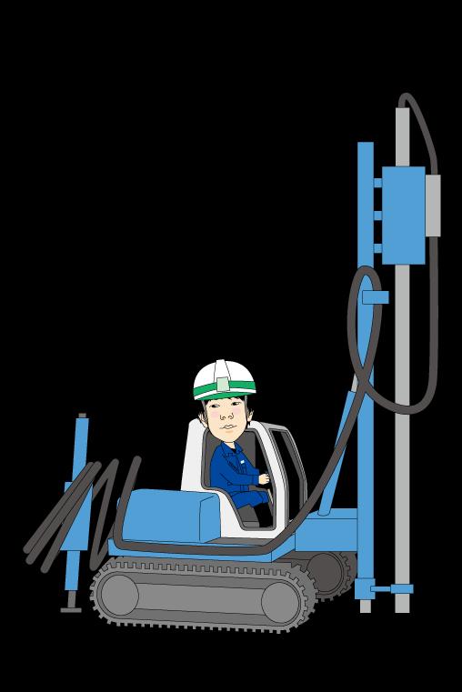 柱状改良施工重機