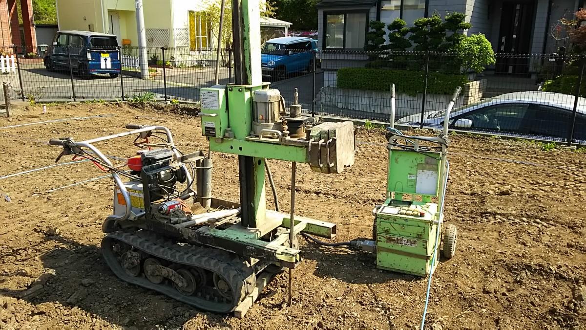 地盤調査 スウェーデン式サウンディング試験